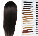 Afro Straight Frontal brasiliano Lace Wig con Baby Hair