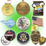 Kenteken van het Metaal van de Douane van Zlloy van het Zink van de manier het Gouden Medaille Gegraveerde