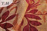 2016 rotes Ahornblatt-Muster-Chenille-Jacquardwebstuhlmöbel Gewebe