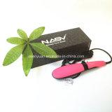 Do cabelo negativo cerâmico reto dos íons da escova do Straightener do cabelo da estrela Nasv-300 da beleza da escova do LCD do pente do aníon do original de 100% escova reta