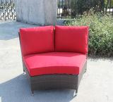 Muebles de mimbre seccionales de la rota del sofá del jardín de lujo