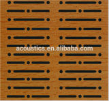Slots Wooden Timber Wall decorativo Fireproof Painel de isolamento acústico