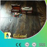 pavimento laminato fonoassorbente del hickory raschiato mano di 12.3mm