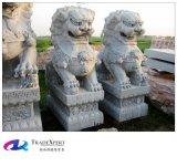 Ручная скульптура китайских и западных каменных материальных статуй льва корабля