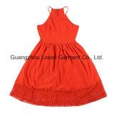 Robe rouge de dames de vêtement de mode de femmes