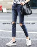 Broeken Van uitstekende kwaliteit van het Denim van de Jeans van de Kleren van vrouwen de Blauwe Gescheurde