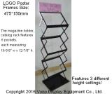 Ausstellung-Bildschirmanzeige-beweglicher Literatur-Fußboden-Standplatz mit tragendem Beutel