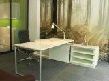 Mesa de escritório executiva moderna da mesa/gerente/mesa com gabinetes laterais