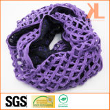 Шарф шеи 100% акриловый пурпуровый полый связанный с Georgette