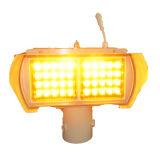 Het amber ZonneLicht die van de Waarschuwing voor Straat Gebruik kruisen