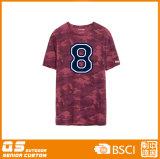 Les sports des hommes exécutant le T-shirt sec de qualité de chemise de circuit d'ajustement