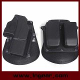 Tactische Gl2 Glock 17/19 Holster van het Pistool met de Zak van het Tijdschrift