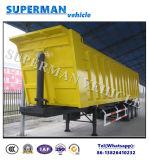 화물 수송기 트레일러 팁 주는 사람 또는 덤프 트레일러를 반 기울이는 48 Cbm 석탄 모래