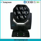 7 * 15W RGBW 4in1 mini abeja de ojos LED de la etapa de lavado principal móvil de la luz del punto