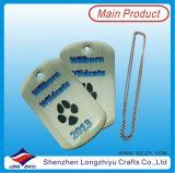Étiquettes de crabot de estampage en forme de coeur d'étiquette de crabot d'acier inoxydable