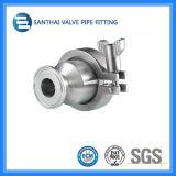 Нержавеющая сталь 304 сваренной санитарной 316L/задерживающего клапана струбцины/резьбы