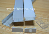 Алюминиевый профиль для прокладок, анодированный серебряный цвет канала СИД, алюминиевое штранге-прессовани алюминия светлой штанги снабжения жилищем СИД