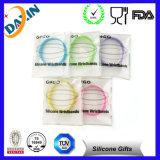 Bracelete inspirado gravado do silicone Wristband colorido