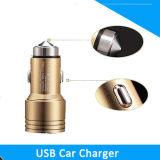 Carregador novo do carro de metal do USB do dobro da porta 2 dupla, carregador do carro do martelo da segurança