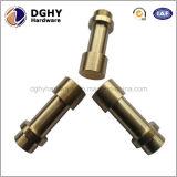 La commande numérique par ordinateur de haute précision a usiné les pièces de rotation de laiton avec le placage de chrome fabriqué en Chine
