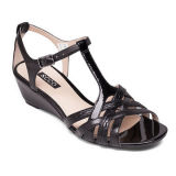Fashion Sandal低いかかとPUの女性