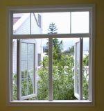 Guichet en verre vertical en aluminium de glissement d'enduit populaire de poudre