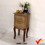 Vintage diseño simple caja Mesilla de noche con la pierna