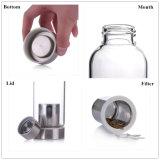 bottiglia bevente di vetro portatile di Infuser del tè della bottiglia di acqua 550ml (DC-QDG1-550)