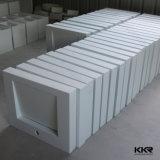 Fregadero moderno de piedra artificial del cuarto de baño de Corian