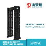 Screen-hohe Präzisions-beweglicher Metalldetektor mit der 255 Stufen-Empfindlichkeit