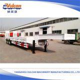 Trekt de Hydraulische Kipper van het ISO- Certificaat 30 Flatbed Ton 40 Voet de Aanhangwagen van de Staaf