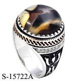 Silberner Ring der Fabrik-Großhandelsform-Schmucksache-925 mit natürlichem Achat