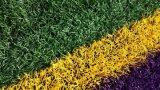 50mm証明された最高のフットボールの人工的な草
