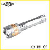 Drehender Fokus, haltbare 260lm nachladbare Taschenlampe des Aluminium-LED (NK-676)