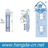 Fechamento de porta do plano do gabinete do punho da liga do zinco para os painéis elétricos (YH9514)