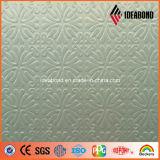 El panel compuesto plástico de aluminio grabado pequeña flor del tacto de la decoración interior