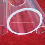 Tubo de vidro transparente de quartzo fundido