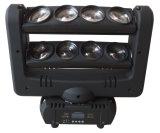 CREE de RGBW 8 pedazos de 10W LED de la araña de la viga de la luz principal móvil de la etapa