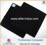 Tri-Dimension Geonet composé Fabrinet Geocomposite de HDPE pour le drainage
