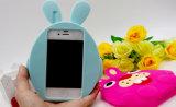 iPhoneのための3D漫画のウサギのシリコーンの箱6 6splus 7 7plus (XSDW-031)