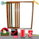 Woodgrain에 의하여 박판으로 만들어지는 UPVC 플라스틱 유리 미닫이 문 오스트레일리아 기준