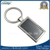 Corrente chave em branco da liga do zinco com logotipo feito sob encomenda