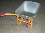 Carrinho de mão de roda de aço galvanizado do jardim (WB6404H)