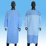의학 Elastic Cuffs 또는 Knitted Cuff Eo Sterilized Isolation Gown Surgical Gown