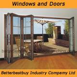 Cuatro marcos plegables la puerta de aluminio