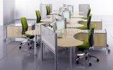 Modernes unterschiedliches Form-Zelle-hölzernes Schlange-Büro gebogener Arbeitsplatz (SZ-WS342)