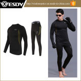 Les sous-vêtements thermiques de Mens de sports en plein air adaptent à Esdy le même noir modèle de sous-vêtements