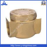 Válvula de verificación de cobre amarillo forjada de oscilación con el color de cobre amarillo (YD-3010)