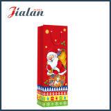 4c Printed Father Christmas Botella de compras mano regalo bolsa de papel