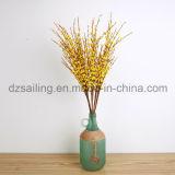 Flor artificial del Forsythia hecho a mano del PE de la alta calidad (SW09901)